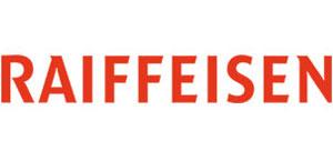Schriftzug rot Raiffeisen