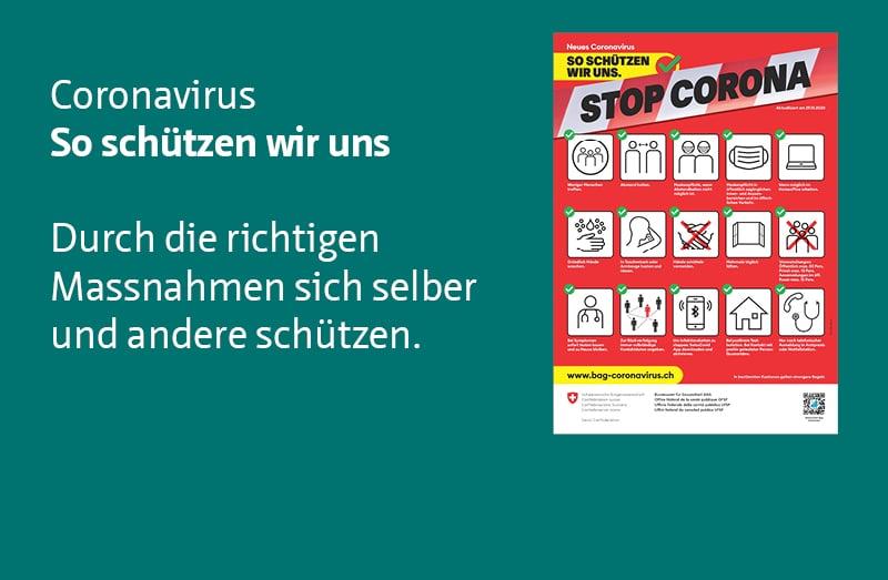 Pro Senectute Kanton Zürich Empfehlungen Corona mit Plakat