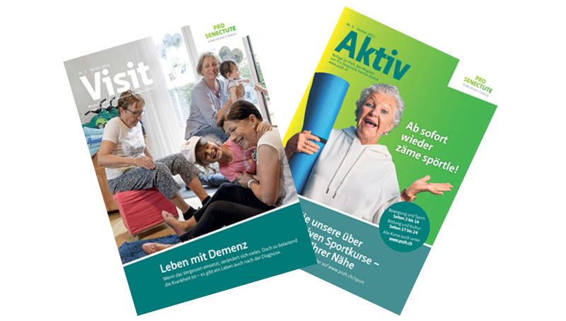 Magazin Visit und Aktiv Pro Senectute Kanton Zuerich